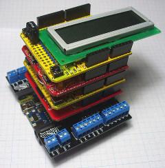 Diferentes Arduino Shields Apiladas