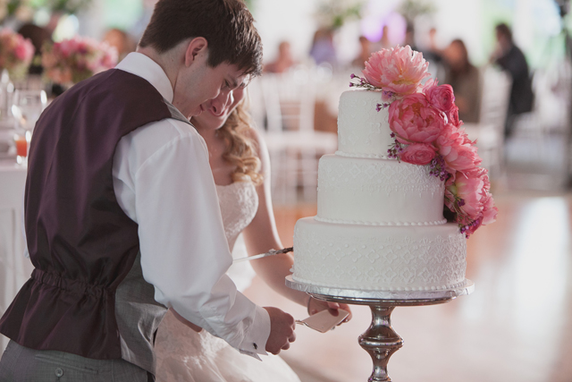 Cutting the cake  - Winnipeg Wedding Inspiration.