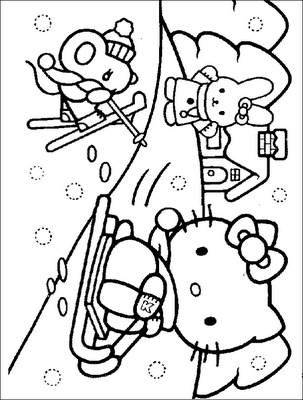 Coloriages a imprimer imprimer gratuitement coloriage hello kitty - Hello kitty a imprimer ...