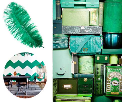 verde esmeralda color de moda