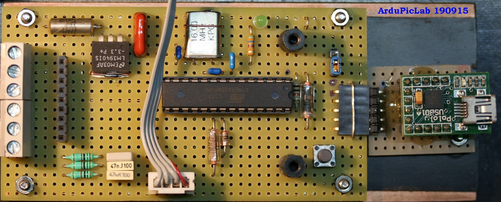 Ardupiclab How To Use The Tft Display 22 Qvga With Arduino Part 1 2 Indicate A Prototype Layout For An Electronic Circuit Load Sketch I Used Usb Serial Converter Module Connected Pc Following Figure Shows And Component