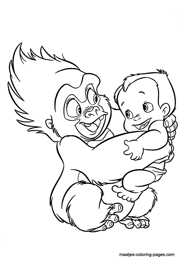 Tarzan coloring pages little boy kids coloring pages