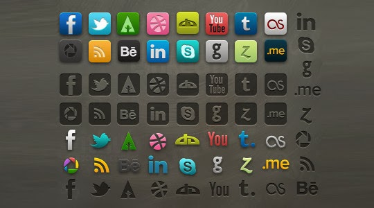 Socialis 2.1 – Icon pack with PSD