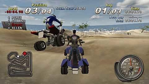 ATV Offroad Fury: Blazin' Trails PSP ISO Screenshoot 3