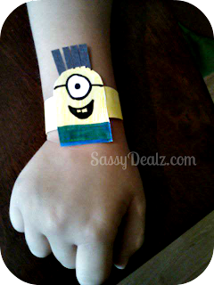 minion despicable me kids bracelet craft idea