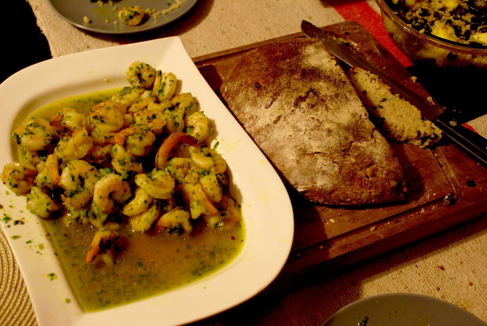 Tiniest Kitchen: Spicy Shrimp in Green Sauce