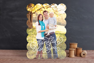 Minted Thankful for Thanksgiving Card Etsy Stalkers