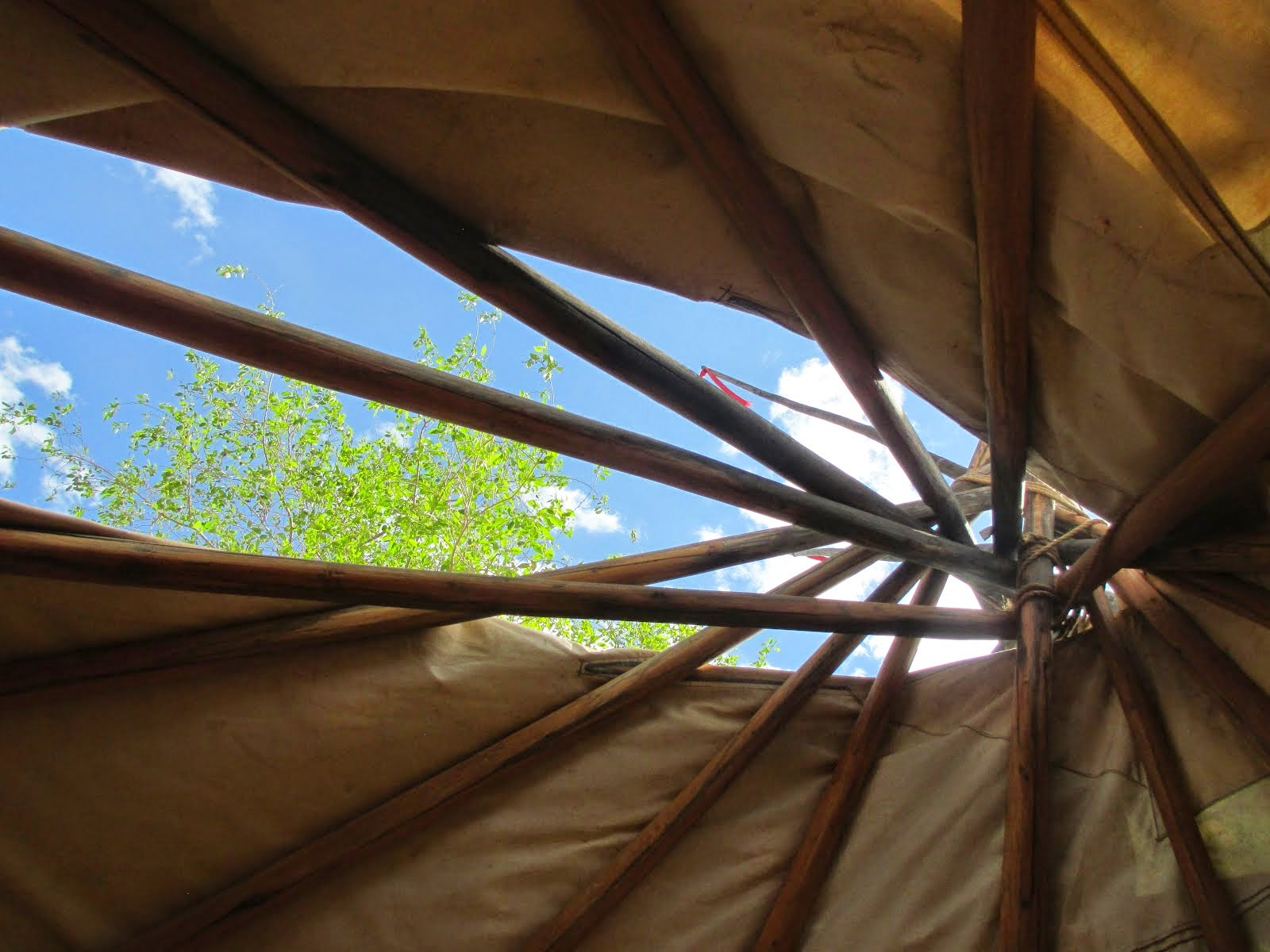 Chronicles of Our experience living in a tipi