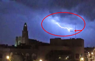 UFO Caught Getting Hit By Lightning, UFO Sighting News
