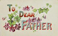Vintage Dear Father Postcard