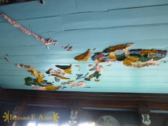 Philippine map on the ceiling of Aguinaldo Shrine