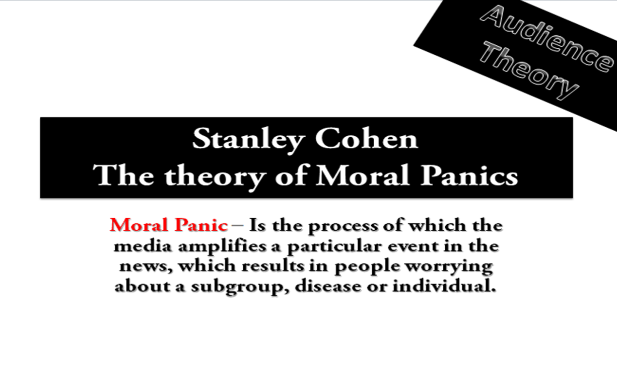 Ice Scream Day 25 Stanley Cohen Moral Panics Audience