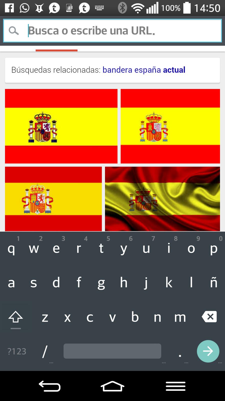 Así luce el teclado de la nueva versión de Android, L de Lollipop.
