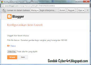 Cara Mengganti Favicon Blog