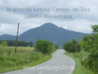 Poza vedere in directia satului Certeju de Sus