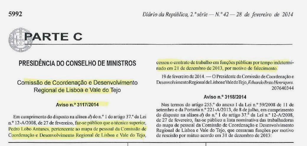 """Leia o """"Diario da Republica"""""""