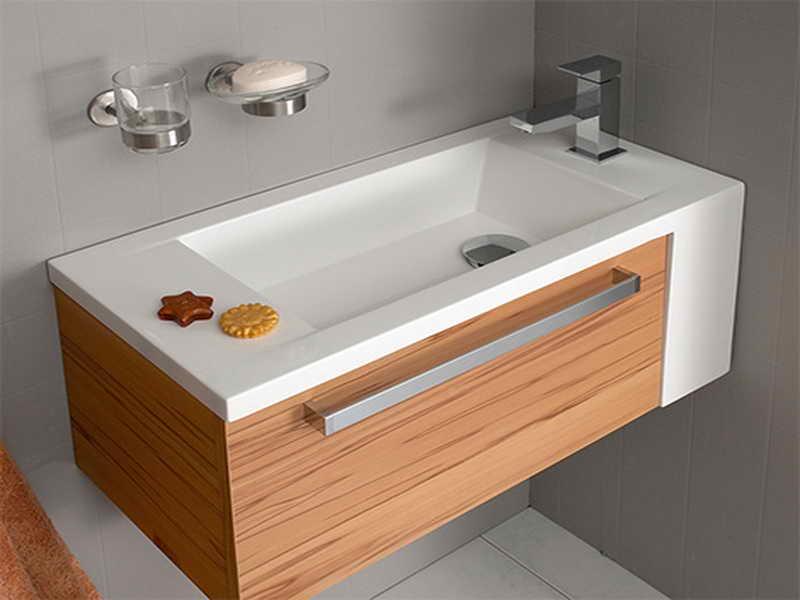 Corner Bathroom Vanity For More Spacious Lavatory