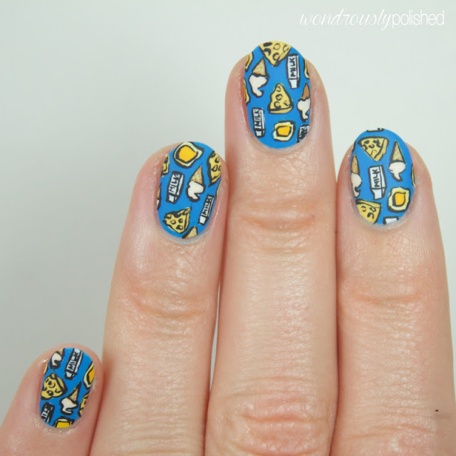 cheese milk nail art