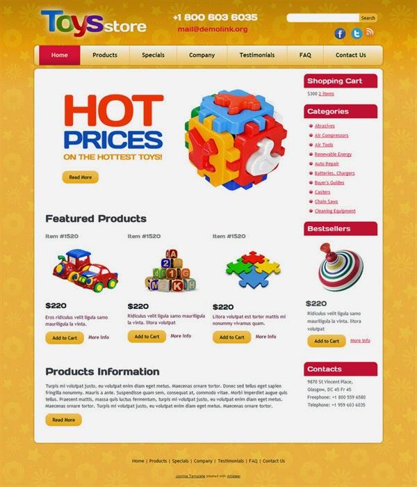 Toys Store - Free Joomla! Template