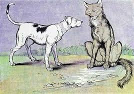 Fábula O Lobo e o Cão
