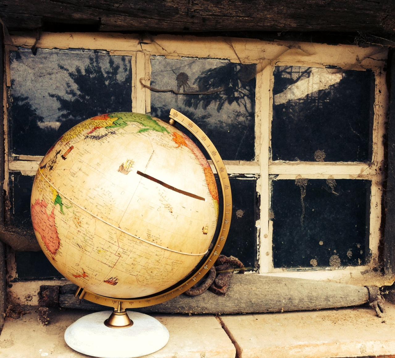 Urnes de mariage - Globe terrestre en carton ...