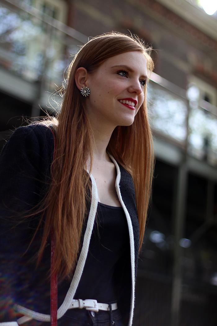 Fashion blog amsterdam dutch red hair chanel-ish jacket Zara heels