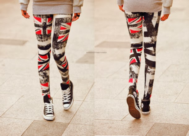 Fashionable, Colorful Patterned Tights with Black, Amazing Converse