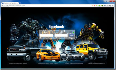 Mengganti Background Log Facebook Pada Google Chrome