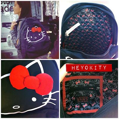 hello kitty vans backpack bag
