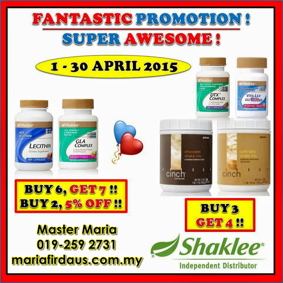 Promotion April 2015!!