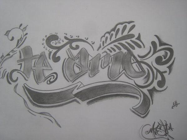 Graffitis que digan te amo Nicole - Imagui