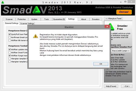 Cara Terbaru Mengilangkan SMADAV Terkena Blacklist