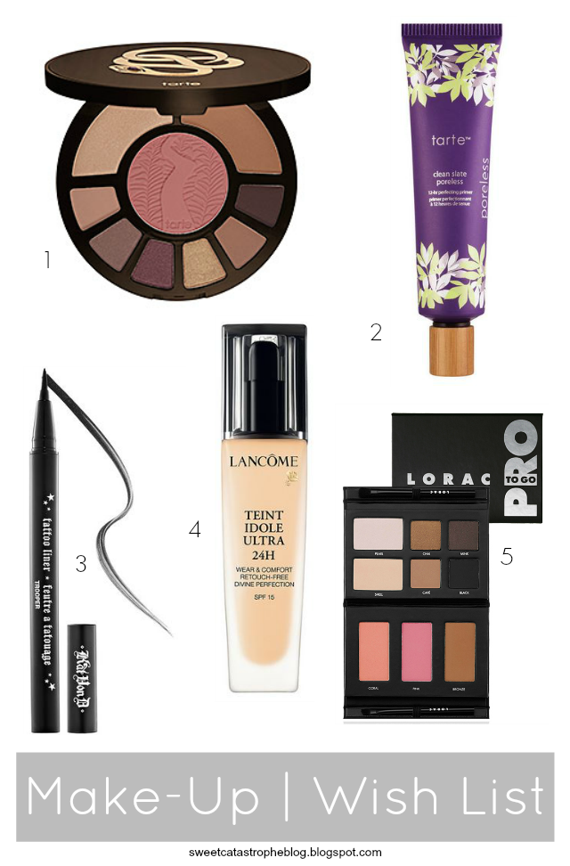 Sweet Catastrophe Blog | Make-Up Wish List