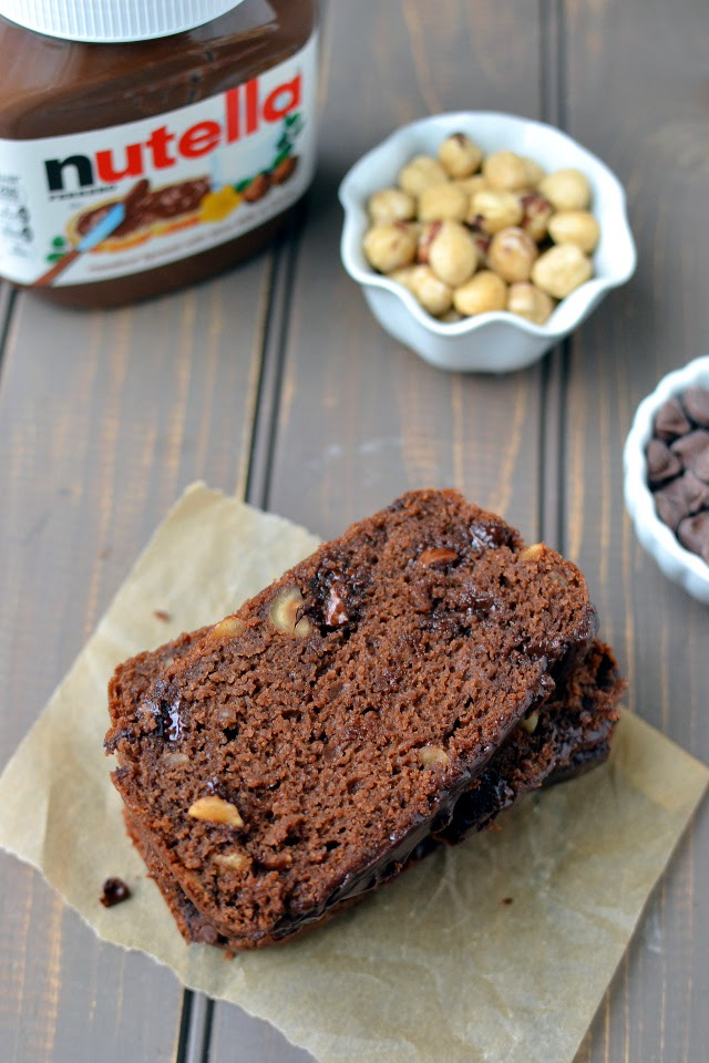 Chocolate Hazelnut Quick Bread (Nutella Chocolate Quick Bread)