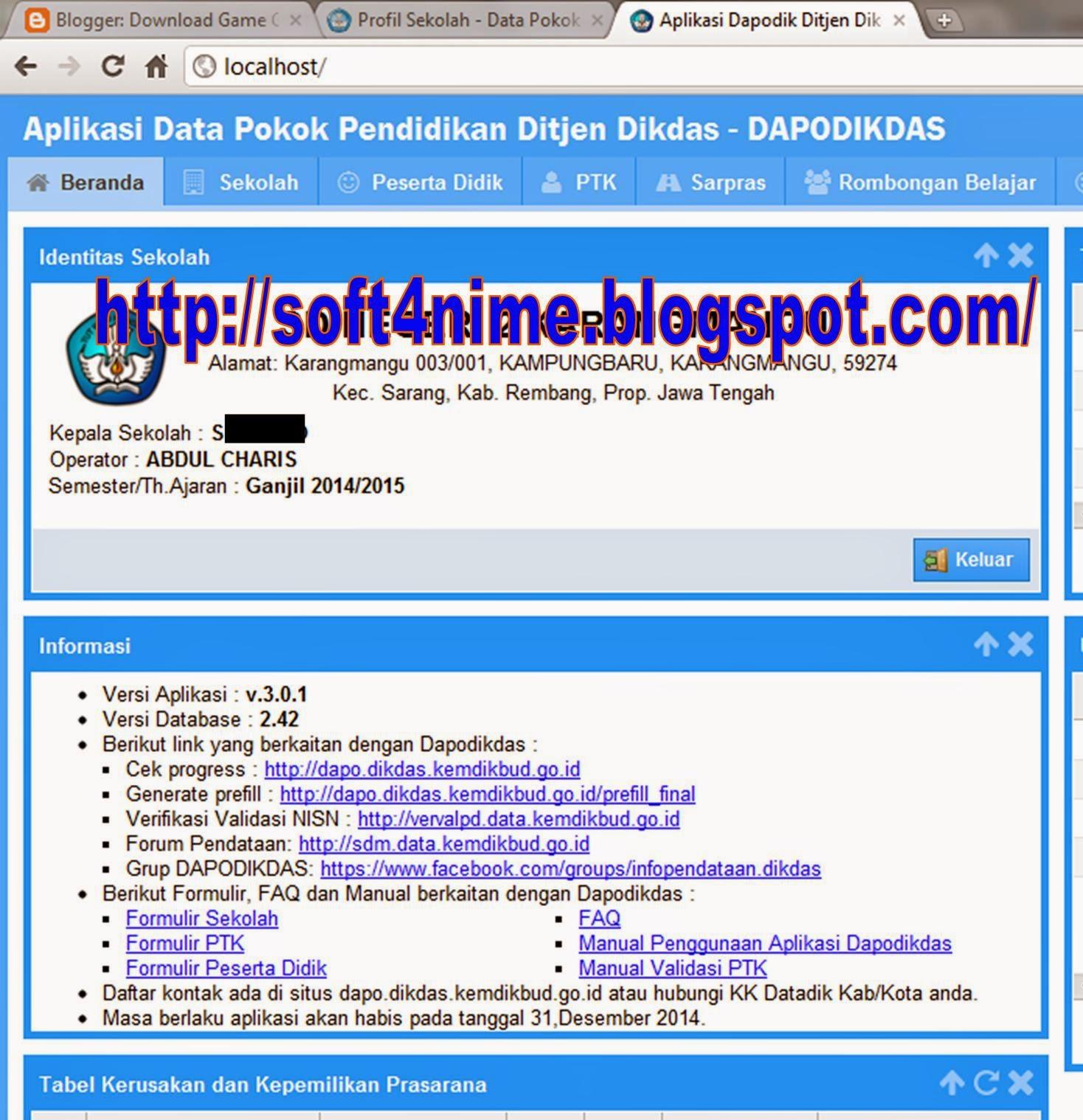 Download Aplikasi Dapodik 3.0.1 Terbaru 2014/2015