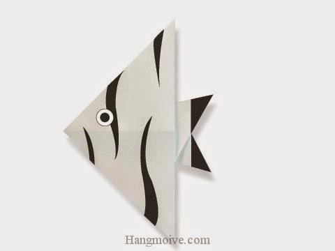 Cách gấp, xếp con cá thiên thần bằng giấy origami - Video hướng dẫn xếp hình sinh vật dưới nước - How to fold a Angel Fish