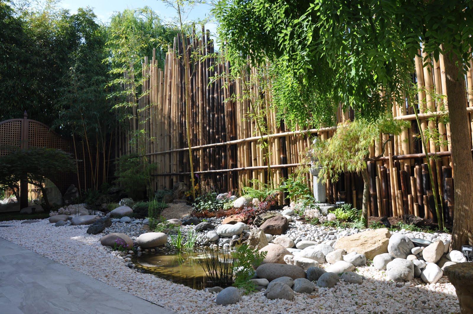 Taffin une palissade en bambous pour un jardin japonais dans le val d 39 oise - Jardin zen japonais ...