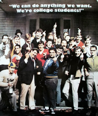 Animal House giving the finger poster
