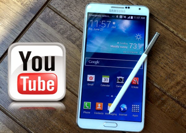 play YouTube video on Galaxy Note 4