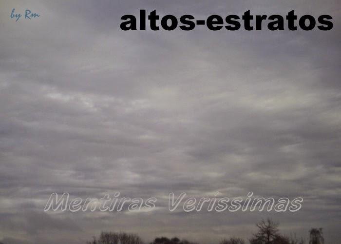 Nuvens altos-estratos (As) - médias e estratiformes