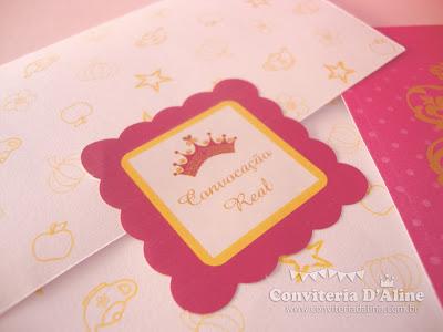 convite tema princesas