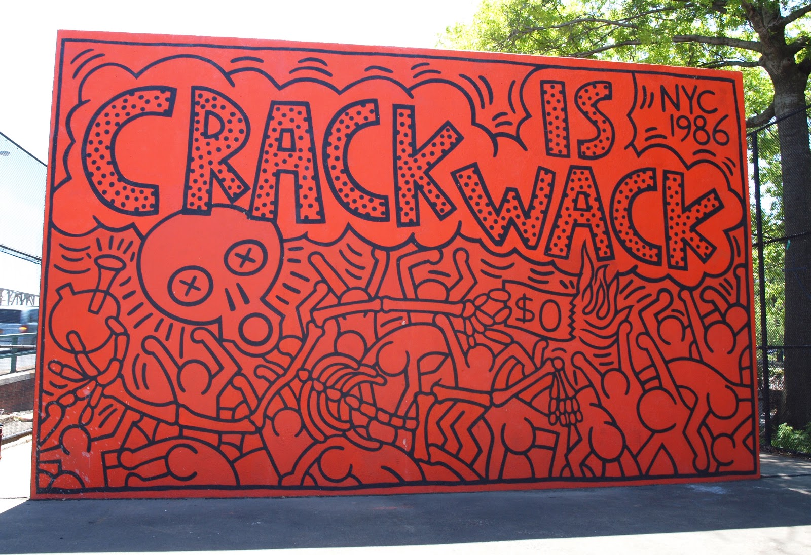 Scribbles and photos expedition keith haring for Crack is wack keith haring mural