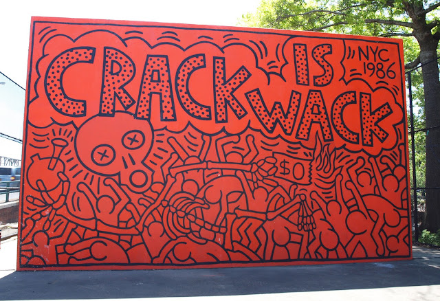Crack is Wack, Skeleton Side, Keith Haring, Public Art, New York City