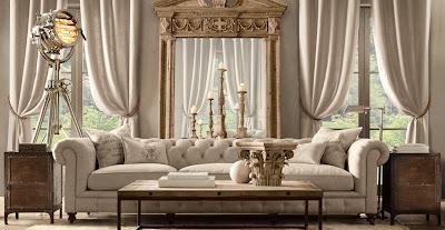 the big green cup des rideaux couleur lin. Black Bedroom Furniture Sets. Home Design Ideas