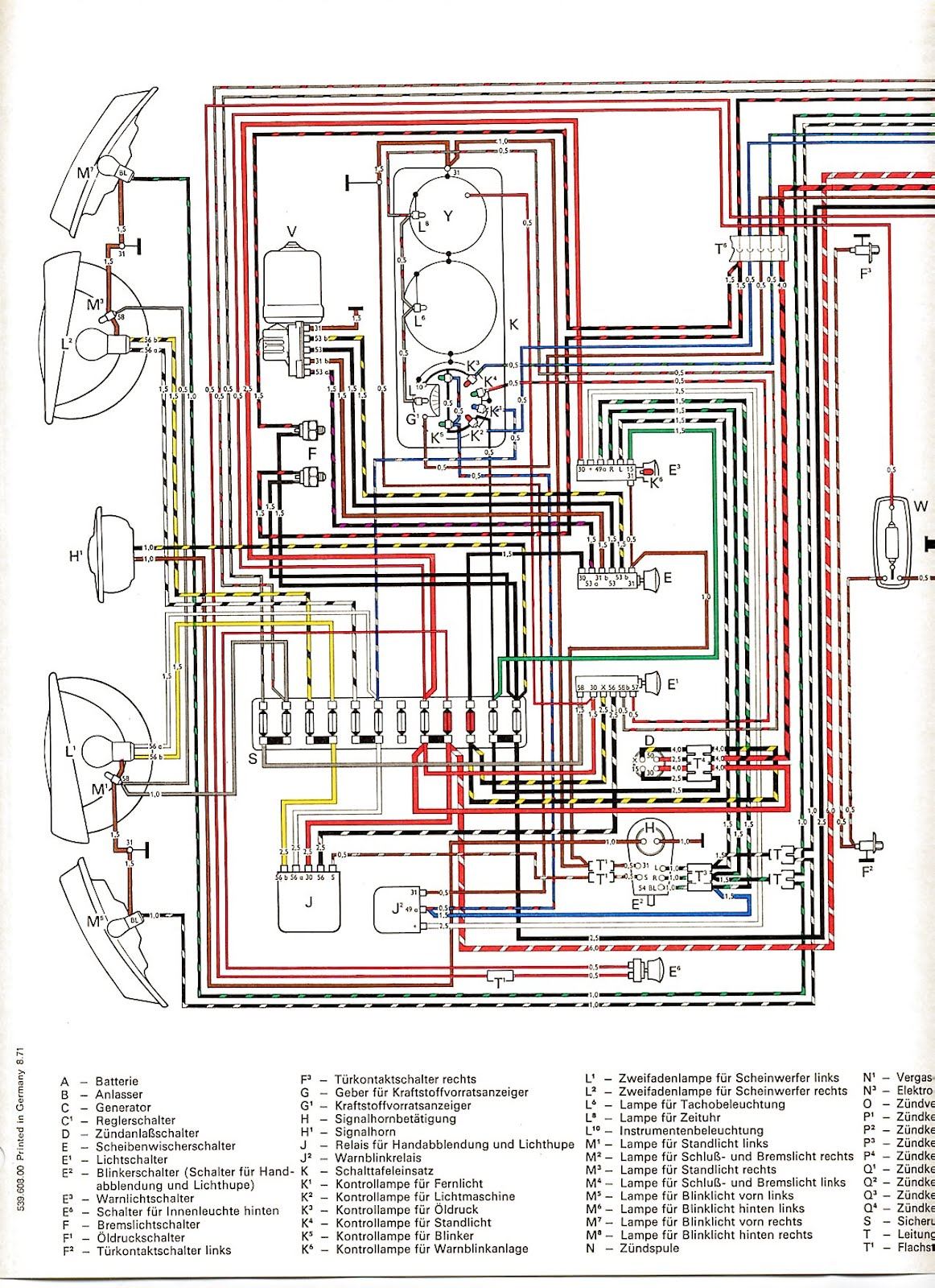 Esquemas Electricos on 1974 super beetle wiring diagram