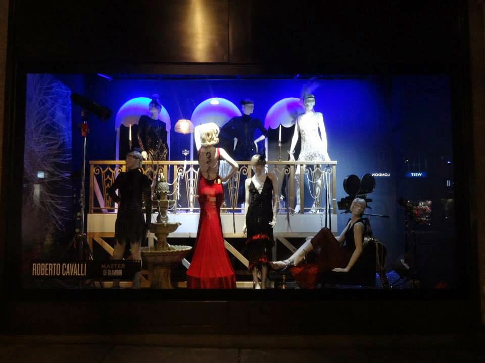 Selfridges Shop Window 2014 jul-aug Roberto Cavalli - Master of Glamour