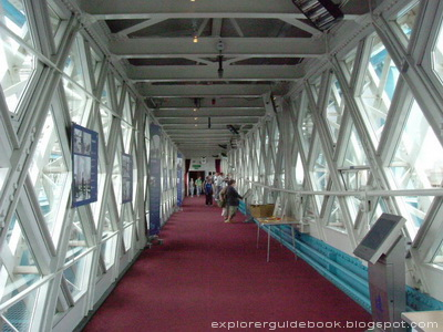 Inside walkway Tower Bridge