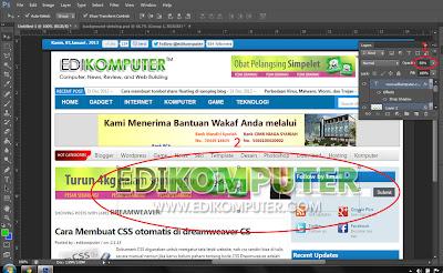 Cara membuat watermark di photoshop www.edikomputer.com