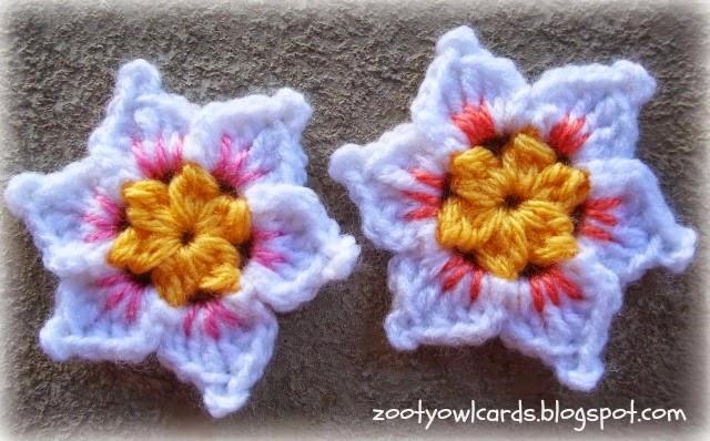 Free Crochet Daffodil Flower Pattern : Zooty Owls Crafty Blog: Not Quite a Daffodil: Flower Pattern
