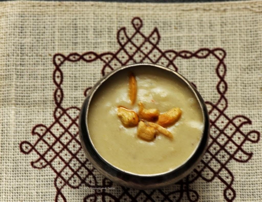 varagarisi badham payasam - kodo millet and almond payasam